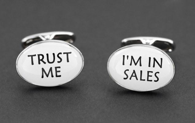 Trust Me I'm in Sales Cufflinks