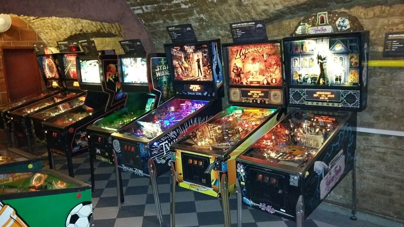 pinball machines in museum Budapest