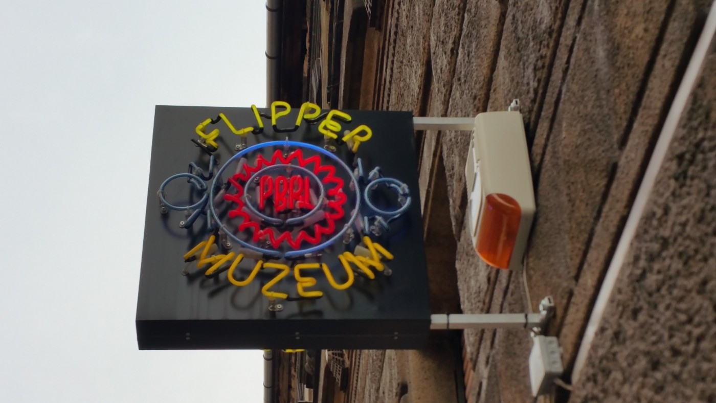 Flipper Museum Sign Budapest