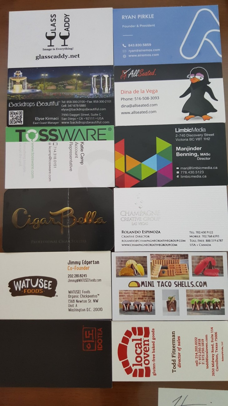 Catersource 2016 Las Vegas business cards