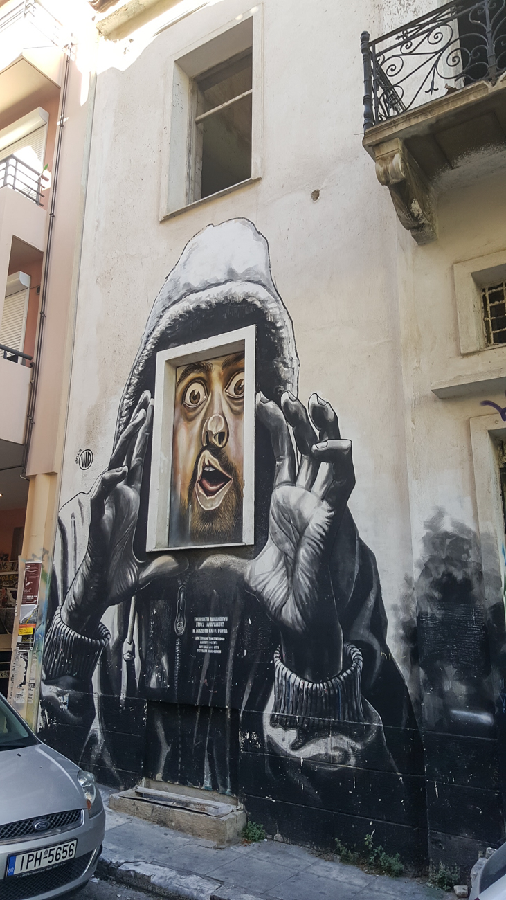 Athens Surprising Street Art Scene with Entrepreneur Social Club world traveling to Greece