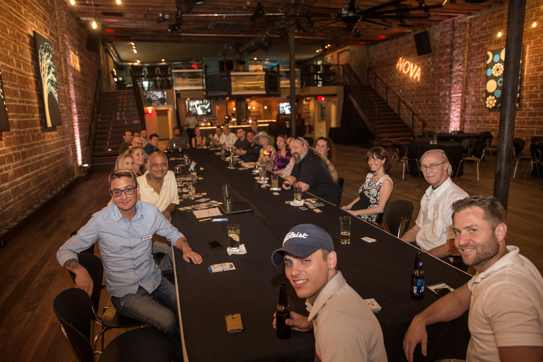 Entrepreneurs make things better for everyone here in DTSP at historic wedding and event venue NOVA 535 for our weekly Entrepreneur Social Club networking meeting and social club.