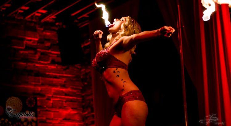 Amanda Mayven Missbehavin Jacobowitz eating fire