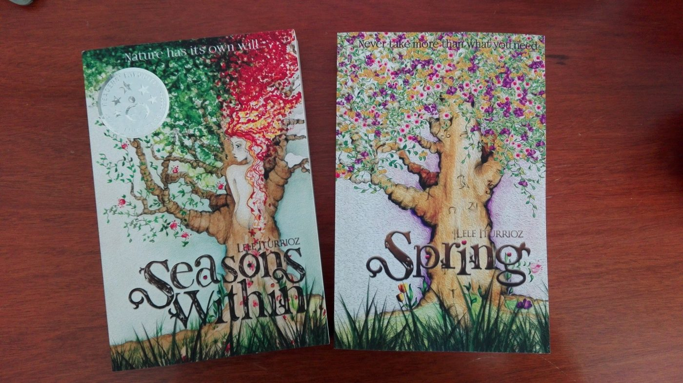 Lele Iturrioz .Author of Seasons Within book covers