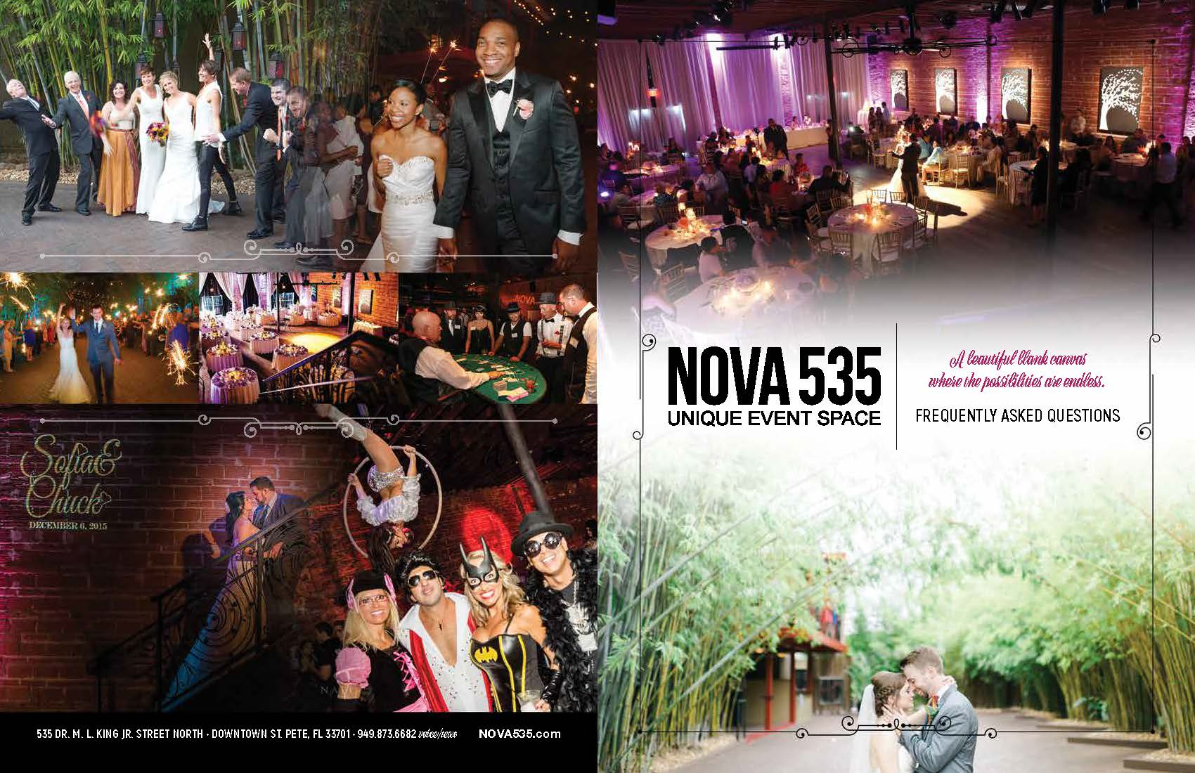 Historic DTSP venue NOVA 535 faq brochure cover images