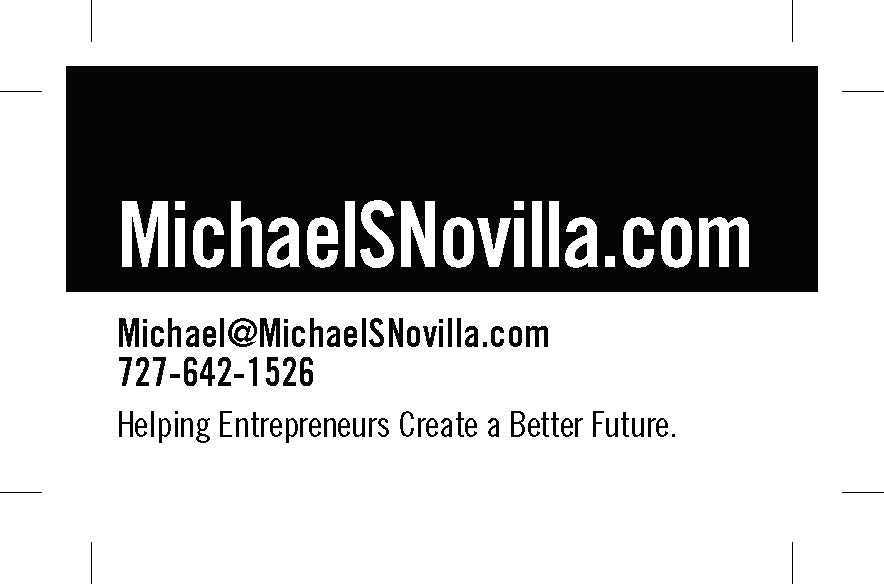 2017 12-14 Michael S Novilla new business cards design round one