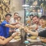 Globetrotting Entrepreneur and ESC Founder Michael Scott Novilla and the Entrepreneur Social Club enjoys Scientists Sushi and Splits in Hanoi Vietnam.