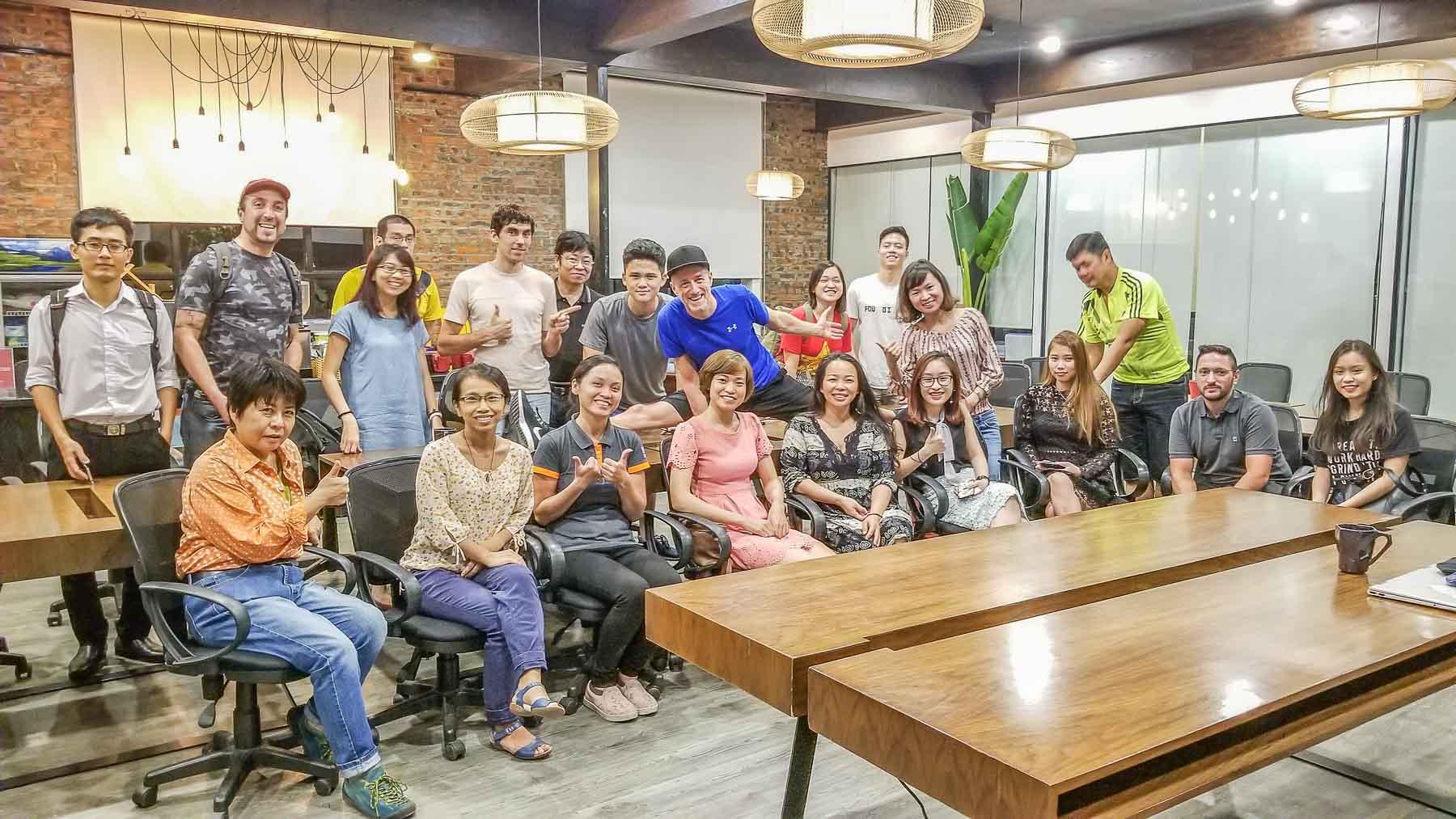 I Wanna Be a Hanoi Tour Guide! Discussed at the Entrepreneur Social Club [tm] Thursday June 14, 2018 hosted by founder Michael Scott Novilla, Hanoi Vietnam