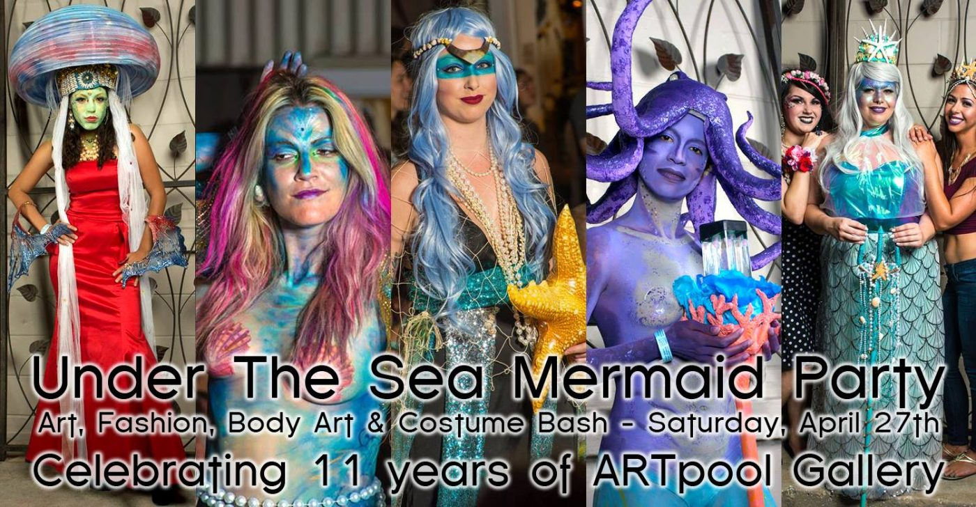 April 27, 2019 Art Pool Mermaid Party flyer
