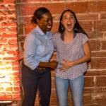 Mimi and Maria exclaim Sushi Saké Kanpai during Entrepreneur Social Club downtown St. Pete venue NOVA 535