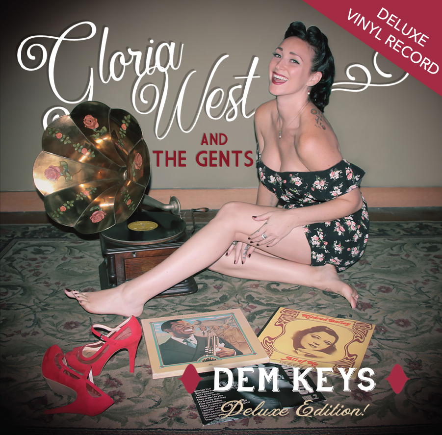 Gloria West and the Gents Red Vinyl LP
