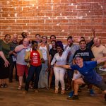 June 6, 2019 Entrepreneur Social Club at historic venue NOVA 535 in downtown St. Pete where founder Michael Scott Novilla proclaims 1, 2, Thuy Tequila Shots