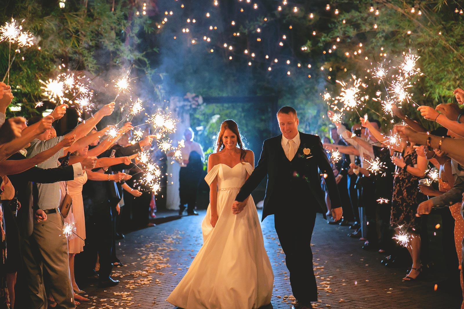 Sparkler Exit through our Brick and Bamboo Courtyard at Historic Downtown St. Pete venue NOVA 535