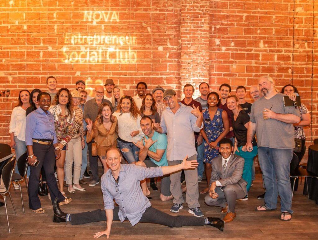 Entrepreneur Social Club at historic downtown St. Pete venue NOVA 535 group photo